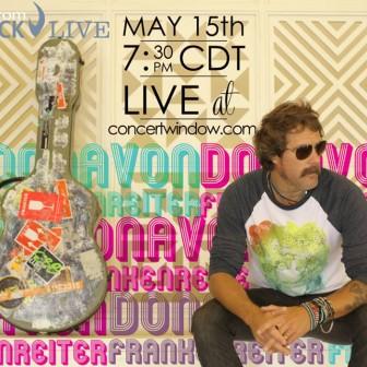明日5月16日の朝、ドノバンのライブが米国テキサスからオンライン生放送