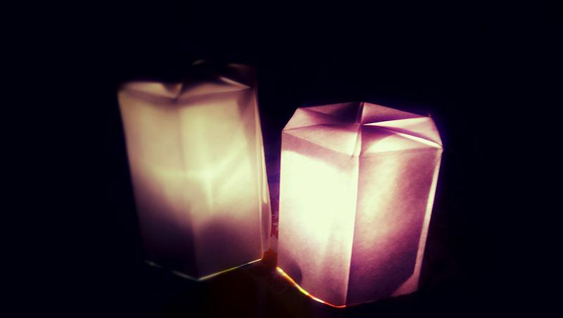 すべての折り紙 折り紙 テレビ : ... 折り紙で作る和モダンなランプ
